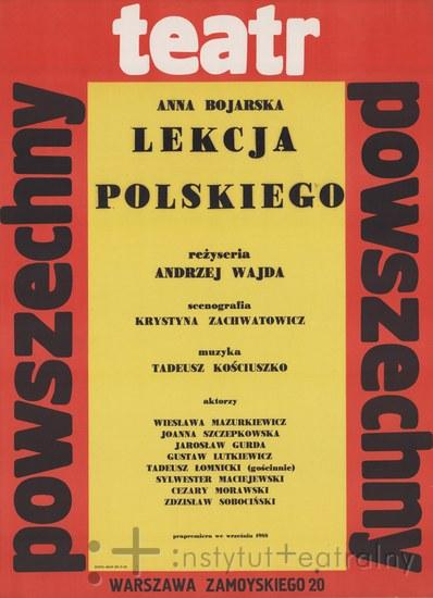 Lekcja polskiego 1988